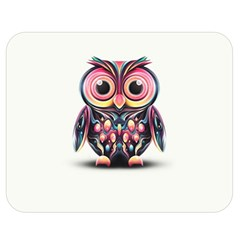 Owl Colorful Double Sided Flano Blanket (Medium)