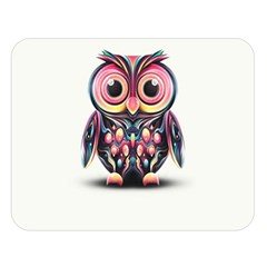 Owl Colorful Double Sided Flano Blanket (Large)