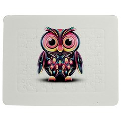Owl Colorful Jigsaw Puzzle Photo Stand (Rectangular)