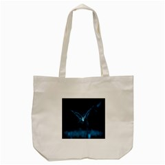 Night Owl Wide Tote Bag (Cream)