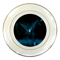Night Owl Wide Porcelain Plates