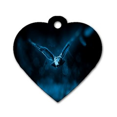 Night Owl Wide Dog Tag Heart (Two Sides)