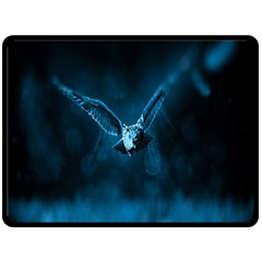 Night Owl Wide Double Sided Fleece Blanket (Large)