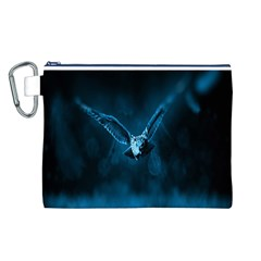 Night Owl Wide Canvas Cosmetic Bag (L)