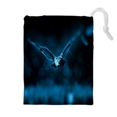 Night Owl Wide Drawstring Pouches (Extra Large)
