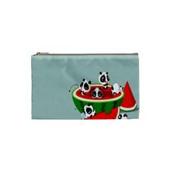 Panda Watermelon Cosmetic Bag (Small)