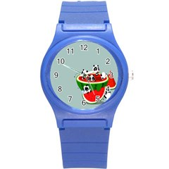 Panda Watermelon Round Plastic Sport Watch (S)