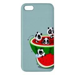 Panda Watermelon iPhone 5S/ SE Premium Hardshell Case