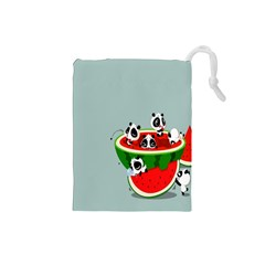 Panda Watermelon Drawstring Pouches (Small)