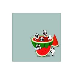 Panda Watermelon Satin Bandana Scarf