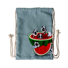 Panda Watermelon Drawstring Bag (Small)