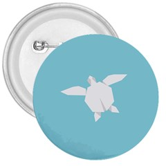 Pet Turtle Paper Origami 3  Buttons