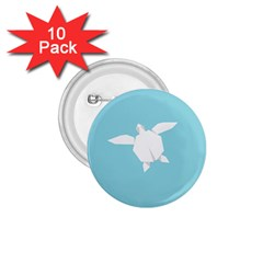Pet Turtle Paper Origami 1.75  Buttons (10 pack)