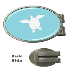 Pet Turtle Paper Origami Money Clips (Oval)