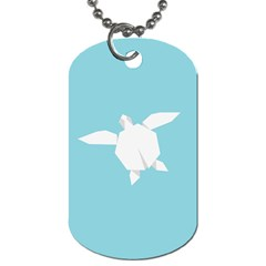 Pet Turtle Paper Origami Dog Tag (Two Sides)
