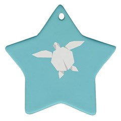 Pet Turtle Paper Origami Star Ornament (Two Sides)