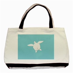 Pet Turtle Paper Origami Basic Tote Bag (Two Sides)