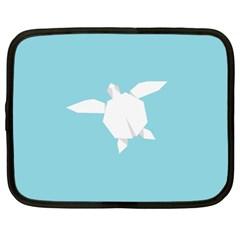 Pet Turtle Paper Origami Netbook Case (XL)