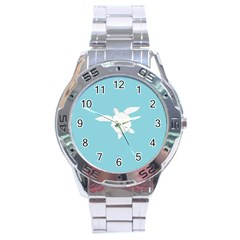 Pet Turtle Paper Origami Stainless Steel Analogue Watch