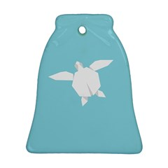 Pet Turtle Paper Origami Bell Ornament (2 Sides)