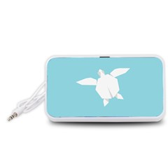 Pet Turtle Paper Origami Portable Speaker (White)