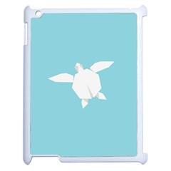 Pet Turtle Paper Origami Apple iPad 2 Case (White)