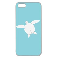 Pet Turtle Paper Origami Apple Seamless iPhone 5 Case (Clear)