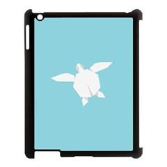 Pet Turtle Paper Origami Apple iPad 3/4 Case (Black)