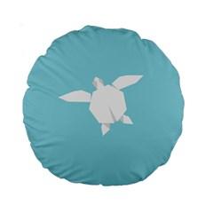 Pet Turtle Paper Origami Standard 15  Premium Round Cushions