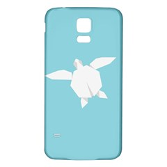 Pet Turtle Paper Origami Samsung Galaxy S5 Back Case (White)