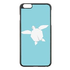 Pet Turtle Paper Origami Apple iPhone 6 Plus/6S Plus Black Enamel Case