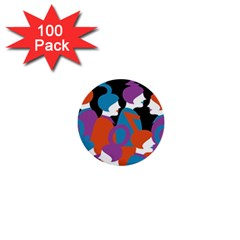 People 1  Mini Buttons (100 pack)