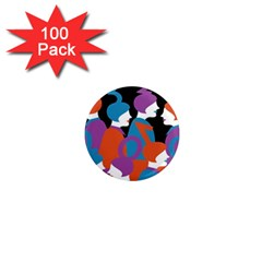 People 1  Mini Magnets (100 pack)