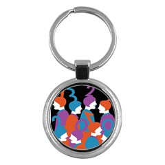 People Key Chains (Round)