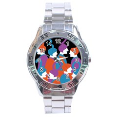 People Stainless Steel Analogue Watch