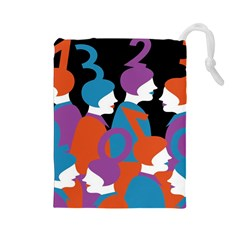 People Drawstring Pouches (Large)