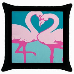 Pink Flamengo Throw Pillow Case (Black)