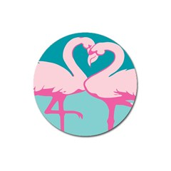 Pink Flamengo Magnet 3  (Round)