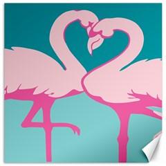 Pink Flamengo Canvas 12  x 12