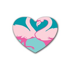 Pink Flamengo Heart Coaster (4 pack)