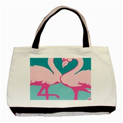 Pink Flamengo Basic Tote Bag (Two Sides)