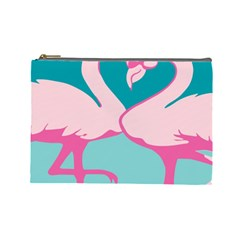 Pink Flamengo Cosmetic Bag (Large)