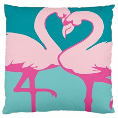 Pink Flamengo Large Cushion Case (One Side)