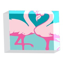 Pink Flamengo 5 x 7  Acrylic Photo Blocks