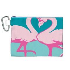 Pink Flamengo Canvas Cosmetic Bag (XL)