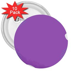 Purple 3  Buttons (10 pack)