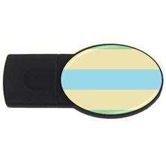 Romantic Flags USB Flash Drive Oval (2 GB)