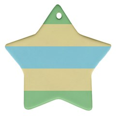 Romantic Flags Star Ornament (Two Sides)