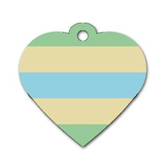 Romantic Flags Dog Tag Heart (Two Sides)