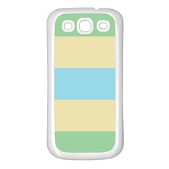 Romantic Flags Samsung Galaxy S3 Back Case (White)